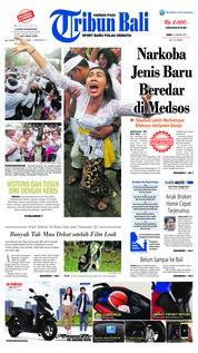 Cover Tribun Bali 14 Januari 2019
