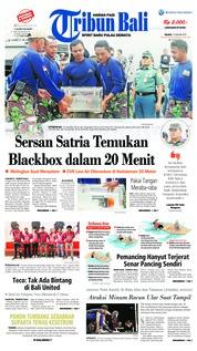 Cover Tribun Bali 15 Januari 2019