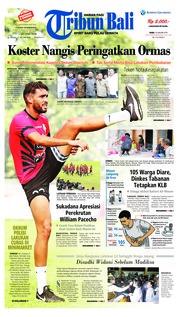 Cover Tribun Bali 16 Januari 2019