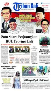 Cover Tribun Bali 17 Januari 2019