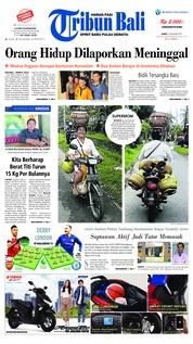 Cover Tribun Bali 19 Januari 2019
