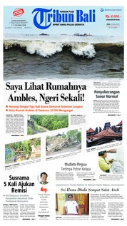 Cover Tribun Bali 23 Januari 2019