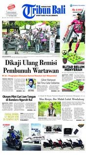 Cover Tribun Bali 01 Februari 2019
