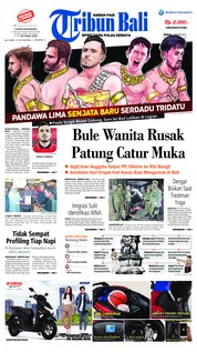 Cover Tribun Bali 03 Februari 2019
