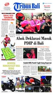 Cover Tribun Bali 09 Februari 2019