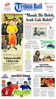 Cover Tribun Bali 13 Februari 2019