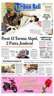 Cover Tribun Bali 14 Februari 2019