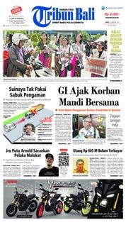 Cover Tribun Bali 15 Februari 2019