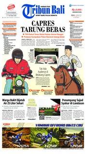Cover Tribun Bali 17 Februari 2019