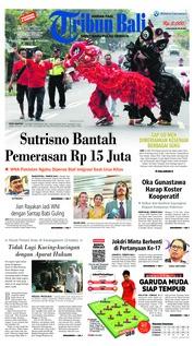 Cover Tribun Bali 20 Februari 2019