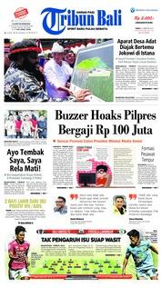 Cover Tribun Bali 22 Februari 2019