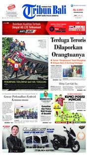 Cover Tribun Bali 11 Maret 2019