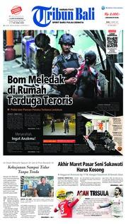 Cover Tribun Bali 13 Maret 2019