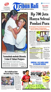 Cover Tribun Bali 14 Maret 2019