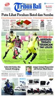 Cover Tribun Bali 15 Maret 2019