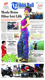 Cover Tribun Bali 17 Maret 2019