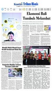 Tribun Bali Cover 19 March 2019