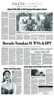 Cover Tribun Bali 21 Maret 2019