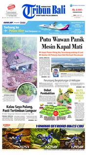Cover Tribun Bali 25 Maret 2019