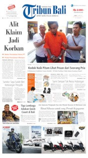 Cover Tribun Bali 13 April 2019