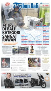 Cover Tribun Bali 14 April 2019