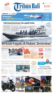 Cover Tribun Bali 15 April 2019