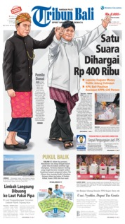 Cover Tribun Bali 17 April 2019