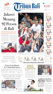 Cover Tribun Bali 18 April 2019