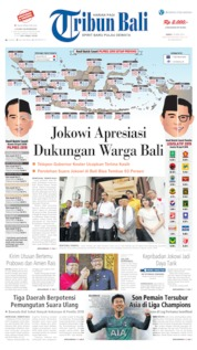 Cover Tribun Bali 19 April 2019