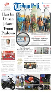 Cover Tribun Bali 21 April 2019