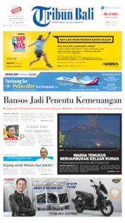 Cover Tribun Bali 22 April 2019