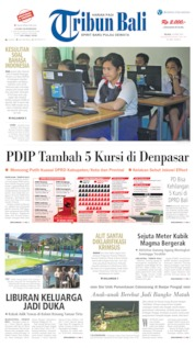 Tribun Bali Cover 23 April 2019