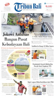 Cover Tribun Bali 24 April 2019