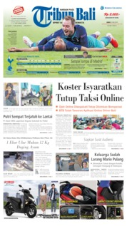 Cover Tribun Bali 10 Mei 2019
