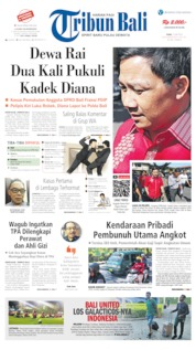 Tribun Bali Cover 15 May 2019