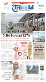 Cover Tribun Bali 13 Juni 2019