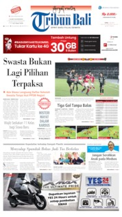 Tribun Bali Cover 01 July 2019
