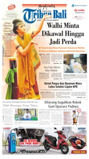 Tribun Bali Cover 12 July 2019
