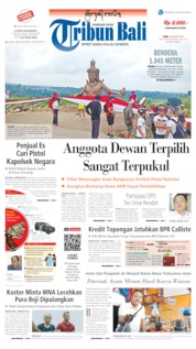 Tribun Bali Cover 14 August 2019