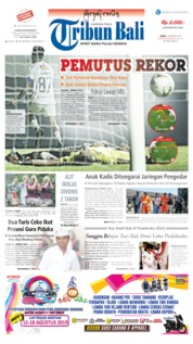 Tribun Bali Cover 16 August 2019