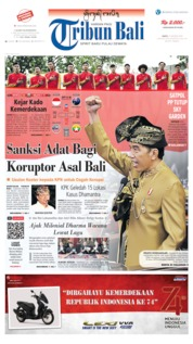 Tribun Bali Cover 17 August 2019