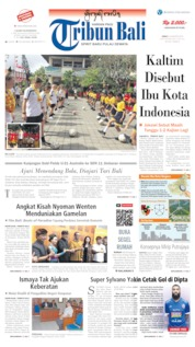 Tribun Bali Cover 23 August 2019