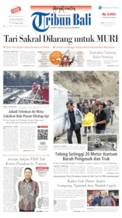 Cover Tribun Bali 18 September 2019