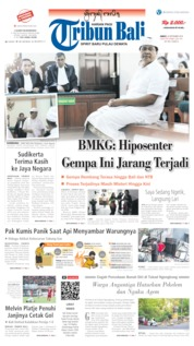 Cover Tribun Bali 20 September 2019