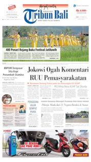 Cover Tribun Bali 21 September 2019
