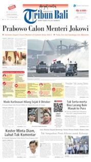 Cover Tribun Bali 17 Oktober 2019