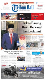 Tribun Bali Cover 21 October 2019