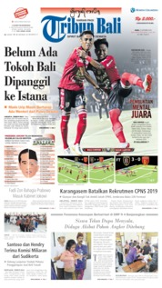 Tribun Bali Cover 23 October 2019