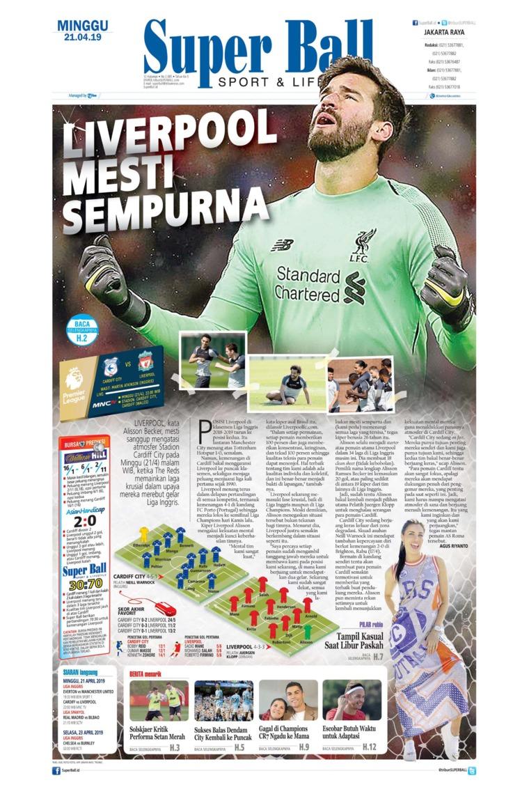 Superball Digital Newspaper 21 April 2019