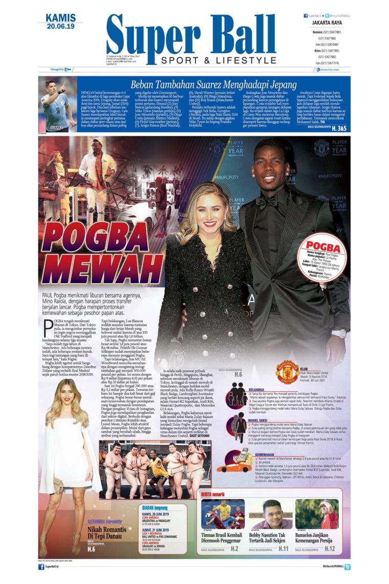 Koran Digital Superball 20 Juni 2019